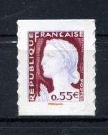 N° 4288 ADHESIF MARIANNE DE DECARIS  0,55e ISSUE DE CARNET NEUF ** - 1960 Marianne De Decaris