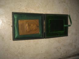 Plaque En Bronze Dans Son étui Association Sténographique Unitaire 1908-1914 République Française - France