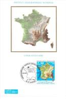 FRANCE 1990 FDC+CARTE MAXIMUM IGN YVERT N°2662 - FDC