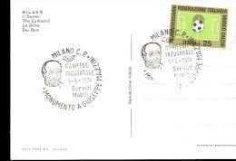 CARTOLINA CON ANNULLO SPECIALE, MANIFESTAZIONE INNAGURALE MONUMENTO A GIUSEPPE MAZZINI 1974 - Non Classificati