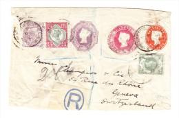 R-Ganzsache Mit Zusatzfrankatur Nach Genf - CH - Briefe U. Dokumente