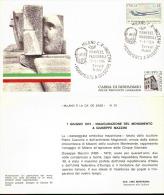 CARTOLINA CON ANNULLO SPECIALE, MANIFESTAZIONE INNAGURALE MONUMENTO A GIUSEPPE MAZZINI 1974  Foto Fronte Retro - Non Classificati