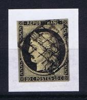 France: 1849 Yv 3 Obl/used.