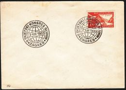 "Yugoslavia 1955, Cover W./ Special Postmark ""World Congress Of The Deaf People, Zagreb"", Ref.bbzg - 1945-1992 République Fédérative Populaire De Yougoslavie"