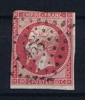 France: 1859 Yv 17B PC 455 Boulogne Sur Mer Obl/used.