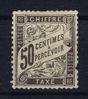 France:  Tax Yv  20 MH/*, Has Some Damage At Right Side - 1859-1955 Postfris