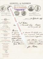 Brief 1907 BERLIN - DÖRFFEL & FAERBER - Optische Und Mecahnische Werkstatt - Ophtalmologische Intruments ... - Allemagne