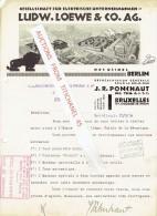 Brief 1930 BERLIN - LUDW. LOEWE & Co. - Gesellschaft Für Elektrische Unternehmungen - Allemagne