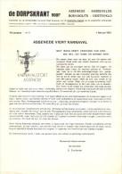 De Dorpskrant Voor Assenede Boekhoute Bassevelde - Activiteiten Agenda 1 Februari 1982 - Non Classés
