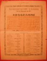 Représentation D'adieux Par Les Chasseurs Du 10ème (Frantz Et Langlais)  - 1916 - Documents