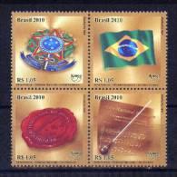 Brasil 2010 ** Serie Upaep Símbolos Nacionales: Escudo, Bandera, Sello E Himno Nacional - Brazil