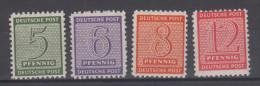 Alliierte Besetzung West Sachsen Satz 120 - 123,  Postfrisch - Sowjetische Zone (SBZ)
