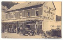 E2553 -  HASTIERE  -  Hôtel Moderne COLLARD - MASSON   *voitures*bière Royal Laeken* - Hastière