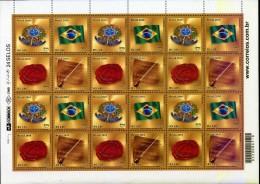Brasil 2010 ** Minipliego 6 Series Upaep Símbolos Nacionales: Escudo, Bandera, Sello E Himno Nacional - Brazil