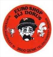 AUTOCOLLANT  STICKER  BIJ DORUS EURO SHOP GENK - Stickers