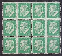 Bund: 12er Bogen Mi-Nr. 209, Oskar Von Miller, Postfrisch / **/ MNH ! - Unused Stamps