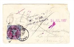 Ganzsachen Ausschnitt Auf  Brief Von Walthamston Gb Nach Havana Cuba Dort Unbekannt. - Briefe U. Dokumente