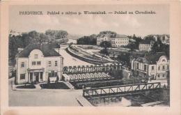 PARDUBICE POHLED Z MLYNA P. WINTERNITZU . POHLED NA CHRUDIMKU 1934 - Tchéquie