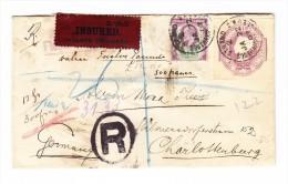 Gesiegelter R-Wertbrief Nach Charlottenburg DE Einsch. Transit Und Ankunfts Stempel - 1840-1901 (Victoria)