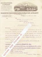 """Brief 1929 HENNEF - HENNEFER MASCHINENFABRIK C. REUTHER & REISERT - """"CHRONOS"""" - Allemagne"""
