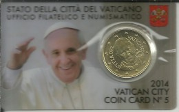 VATICANO 2014 PAPA FRANCISCOCOIN CARD NUM.5 - Vaticano (Ciudad Del)