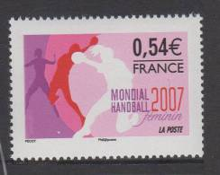 FRANCE 2007- Un Timbre (1)  N°4118** XVIII Championnat Du Monde Hand Ball Féminin  0.54€ - France