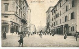 CPA ITALIE CIVITAVECCHIA VIA CAVOUR RARO - Italia