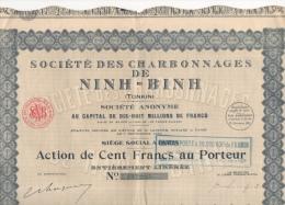 Mines Action Titre Emprunt Société Des Charbonnages De Ninh-Binh Tonkin N° 137,245 1926 - Asie