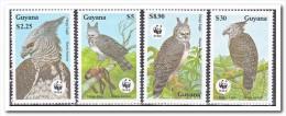 Guyana MNH Postfris, WWF Birds - Guyana (1966-...)
