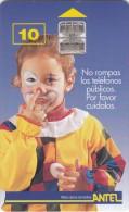 URUGUAY - Little Girl(19a), Chip SC7, 09/98, Used - Uruguay