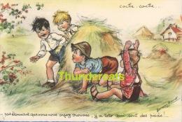 CPA ILLUSTRATEUR ENFANTS ** GERMAINE BOURET ** ARTIST SIGNED CHILDREN CARD ** CACHE CACHE - Bouret, Germaine
