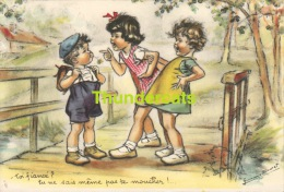 CPA ILLUSTRATEUR ENFANTS ** GERMAINE BOURET ** ARTIST SIGNED CHILDREN CARD **  TOI FINANCE - Bouret, Germaine