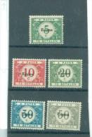 België  Bezetting N° 101/105  Aan 18% Cote   X Scharnier - Guerra '14-'18