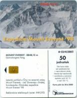 Telefonkarte Slowakei - Mount Everest - Aufl. 100000 - 01/98 - Slowakei