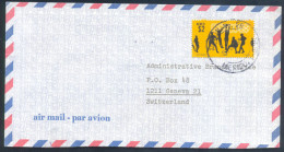 Mexico City 1968 Olympic Games Air Mail Cover: Volleyball Stamp On Cover To Switzerland - Zomer 1968: Mexico-City