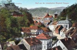 GRAUPEN Krupka - Rosenburg, Bergstadt Graupen, Strassenansicht, Gel.1915? Nach Bodenbach - Böhmen Und Mähren