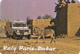 Rally Paris-Dakar - Small Pocket Calendar - Year 1986 - Calendarios