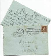 LIGNEUVILLE ..-- Courrier MILITARIA . 1937 . Signé : Joseph . Vers : Famille ZIANS !!! - Malmedy