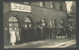 LATVIA , KRASLAVA  REGION, INDRA  RAILWAY STATION , OLD POSTCARD, 0 - Latvia