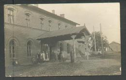 LATVIA , KRASLAVA  REGION, INDRA  RAILWAY STATION , BACK SIDE , OLD POSTCARD, 0 - Latvia