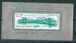 HUNGARY-1964. Souv.Sheet-Elizabeth Bridge/Spec.Perf. Mi : Bl.45I MNH!!! CV:27EUR - Ungebraucht