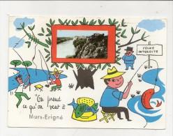 CPM   Murs Erigne Peche  Illustrateur? Circulé 1988 - Autres Communes