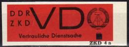 Dienstmarken ZKD Ausgabe D 1965 Seltener Aufdruck 4a DDR 3x ** 35€ Imperforiert Für Neue Briefe Service Stamp Of Germany - Service