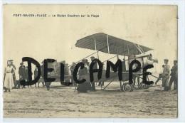 CPA - Fort Mahon Plage - Le Biplan Caudron Sur La Plage - Fort Mahon