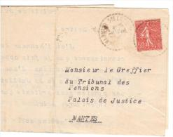 FRANCIA 1927 - Piego Da  Sainte-Luce-sur-Loire A Nantes Palais De Justice - Francia