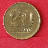 BRAZIL  20  CENTAVOS  1945   KM# 556a  -    (Nº06824) - Brésil