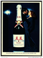 Reklame Werbeanzeige  -  MM Extra Sekt  -  Zum Auftakt Und Zum Happy End  -  Von 1976 - Alkohol