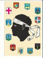 Corse - ïle D'amour - Tête De Maure Et Blasons / Blason Héraldique Région  //  CP 8/772 - Corse