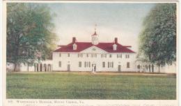Mount Vernon Virginia VA - Washington' Mansion - Simple Back - Stamp & Postmark 1907 (?) - 2 Scans - United States