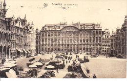 BELGIO - BRUXELLES - Place Avec Marchè, Ben Animata, Viagg. 1935 - MAG-13-44 - Belgio